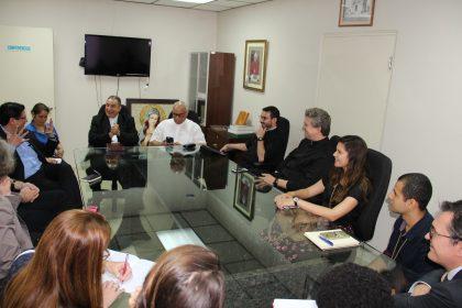 Delegación Francesa de reúne con el Arzobispo de Panamá