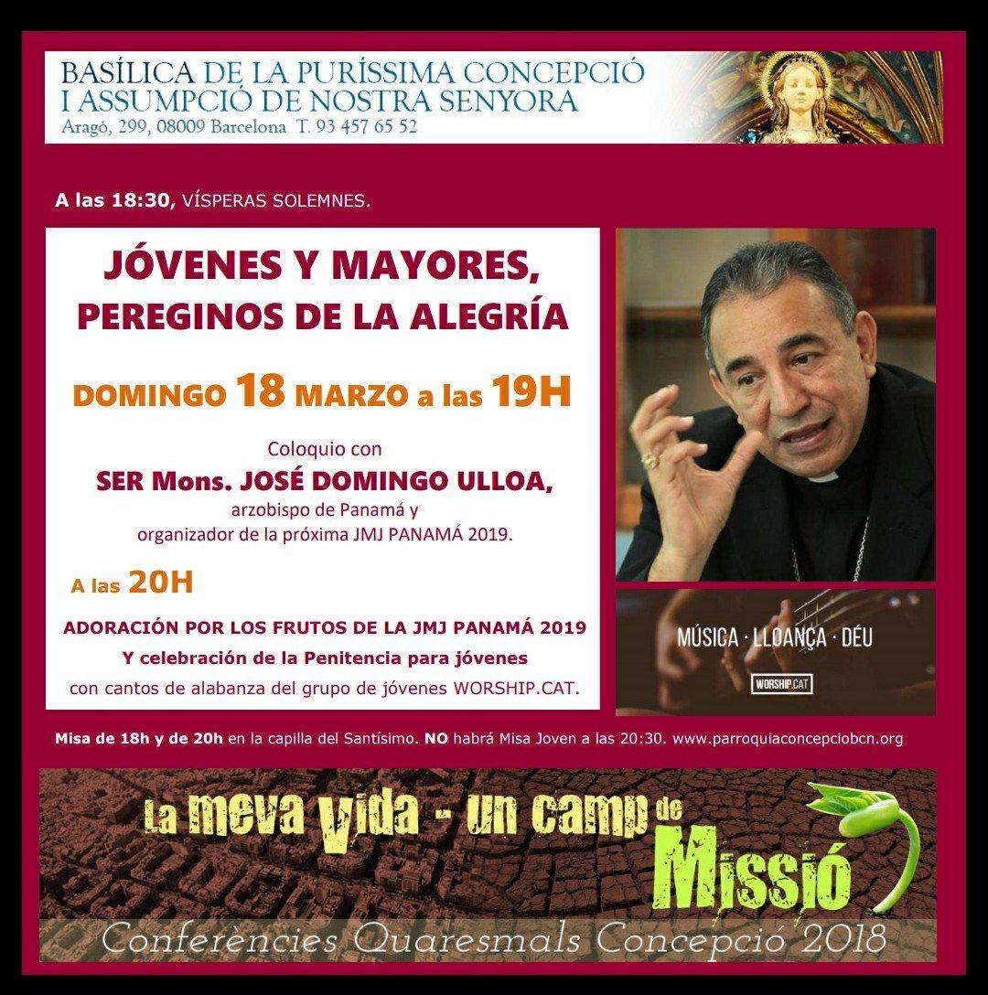 Arzobispo en España promoviendo la JMJ