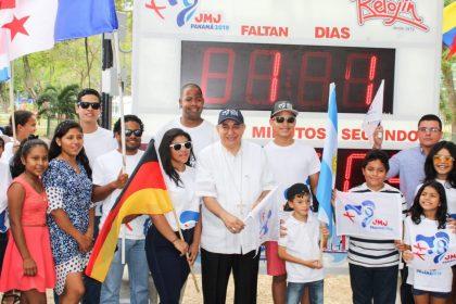 Panamá instala reloj de conteo regresivo para la JMJ 2019