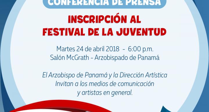 """Conferencia de Prensa: """"Inscripción al Festival de  la Juventud de la JMJ"""""""